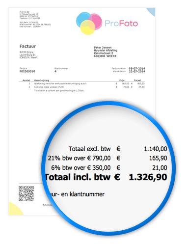 Btw berekenen   FactuurSturen.nl